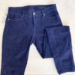 Blank NYC Blue Corduroy Skinny Pants